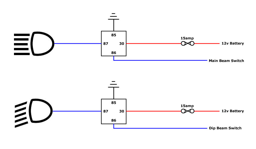 Standard Relay Wiring Diagram